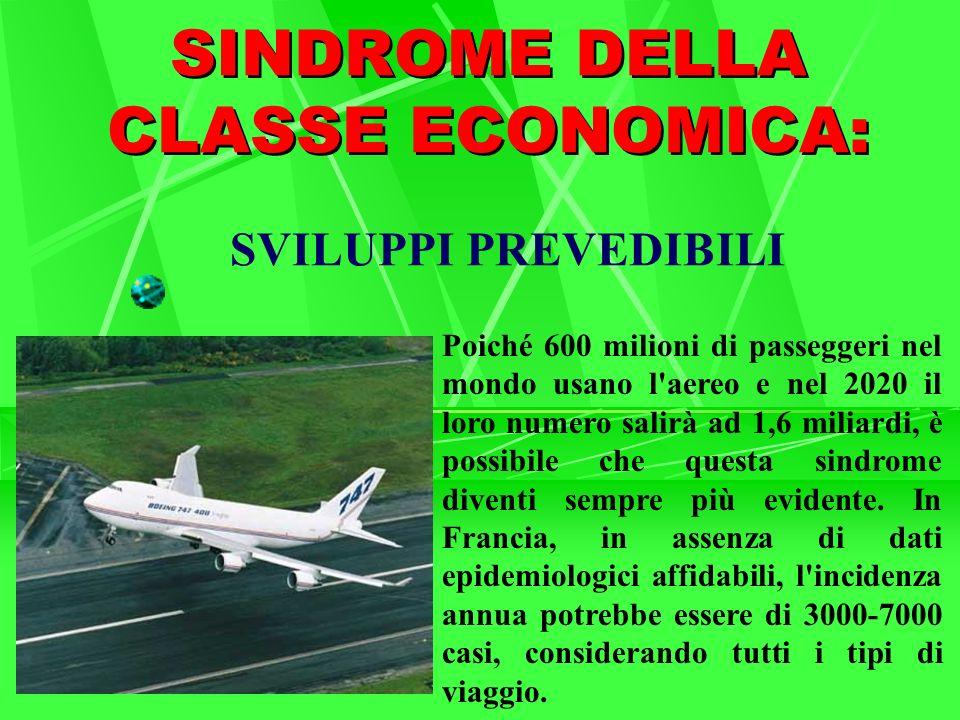 SVILUPPI PREVEDIBILI Poiché 600 milioni di passeggeri nel mondo usano l'aereo e nel 2020 il loro numero salirà ad 1,6 miliardi, è possibile che questa