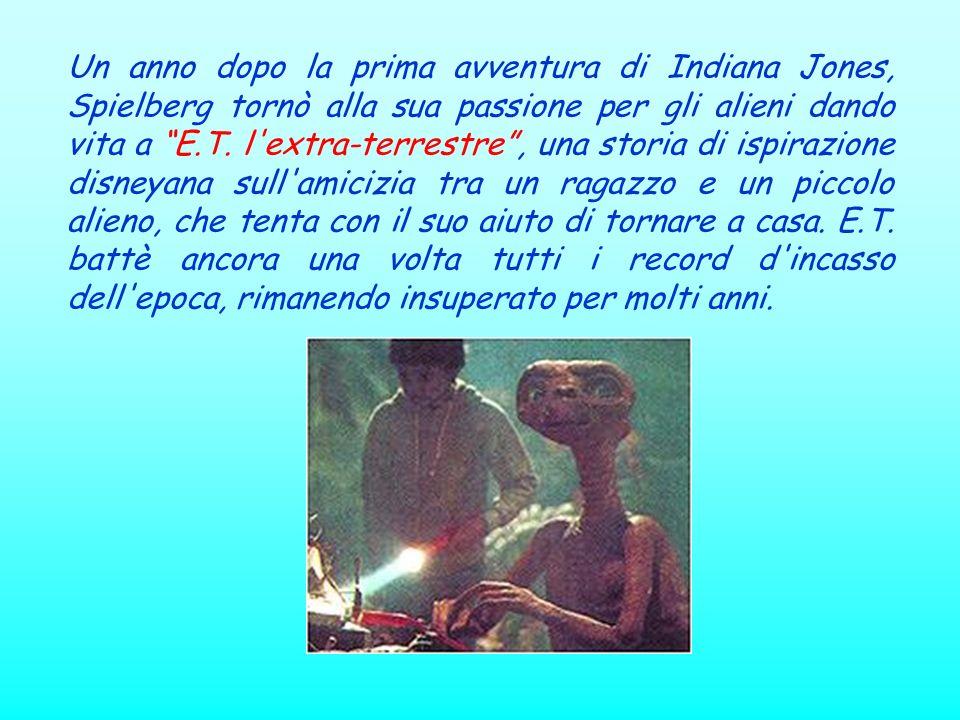 Un anno dopo la prima avventura di Indiana Jones, Spielberg tornò alla sua passione per gli alieni dando vita a E.T. l'extra-terrestre, una storia di