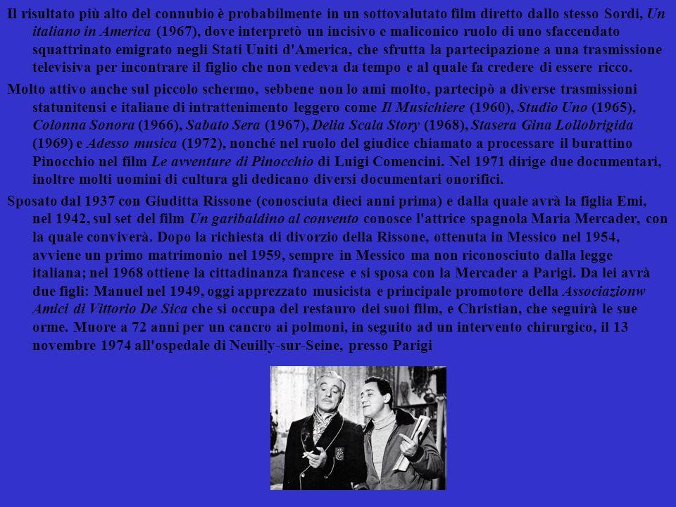 Indice Biografia Filmografia Neorealismo