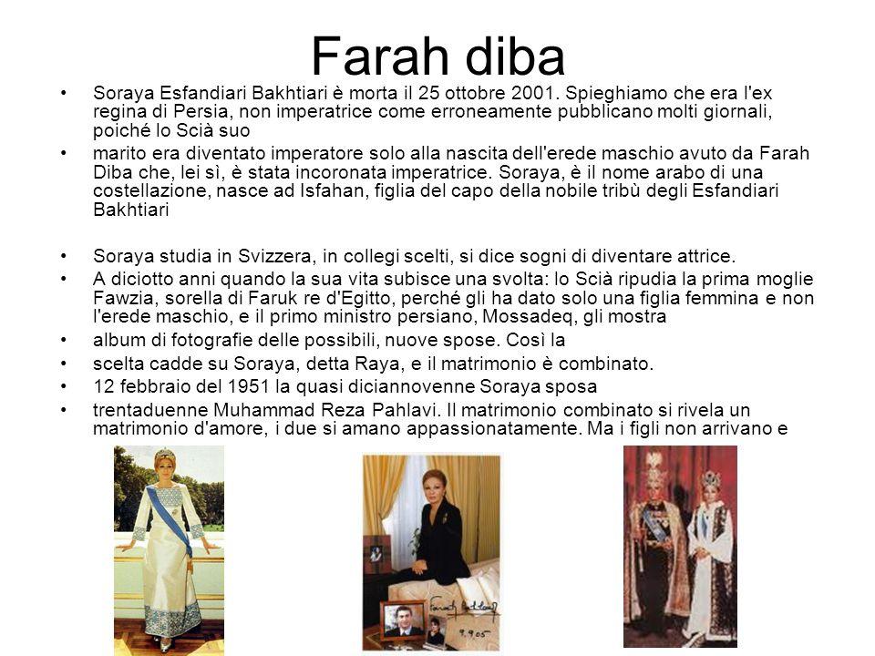 Farah diba Soraya inizia la peregrinazione tra i luminari mondiali.