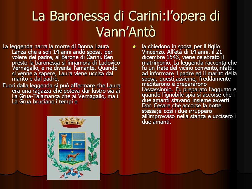 La Baronessa di Carini:lopera di VannAntò La leggenda narra la morte di Donna Laura Lanza che a soli 14 anni andò sposa, per volere del padre, al Baro
