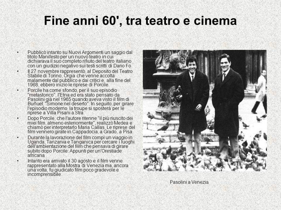 Gli anni 70 All inizio del 1971 realizzò un documentario, dal titolo 12 dicembre, con la collaborazione di alcuni impegnati di Lotta continua sul tema della strage alla Banca dell Agricoltura di Milano e a marzo presta il suo nome come direttore responsabile dello stesso quotidiano.