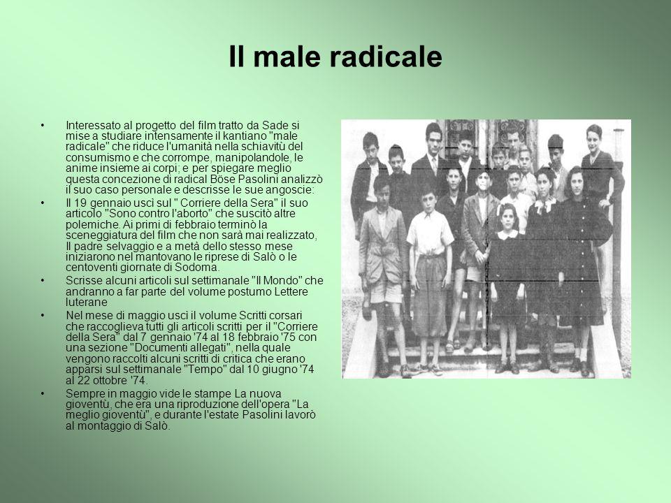 L ultima spiaggia Statua dedicata a Pasolini nel luogo dove fu ucciso nella notte tra l 1 e il 2 novembre 1975 Pasolini venne ucciso in maniera brutale: battuto a colpi di bastone, venne travolto ripetutamente con la sua auto sulla spiaggia dell idroscalo di Ostia, vicino a Roma.