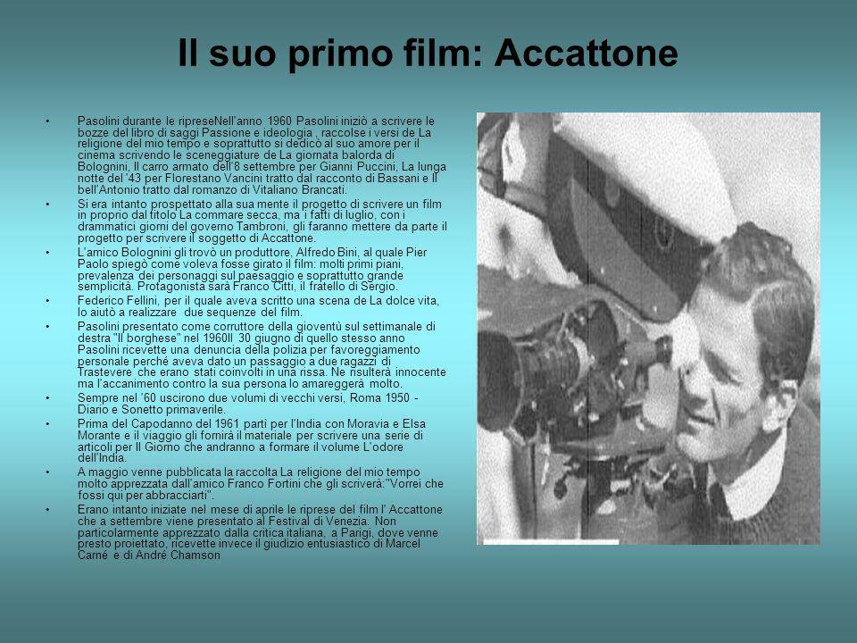 Gli anni sessanta Nell autunno del 61 si recò al Circeo nella villa di un amica per scrivere insieme a Sergio Citti la sceneggiatura del film Mamma Roma la cui lavorazione verrà programmata per la primavera del 1962 e venne chiamata per interpretarlo Anna Magnani.