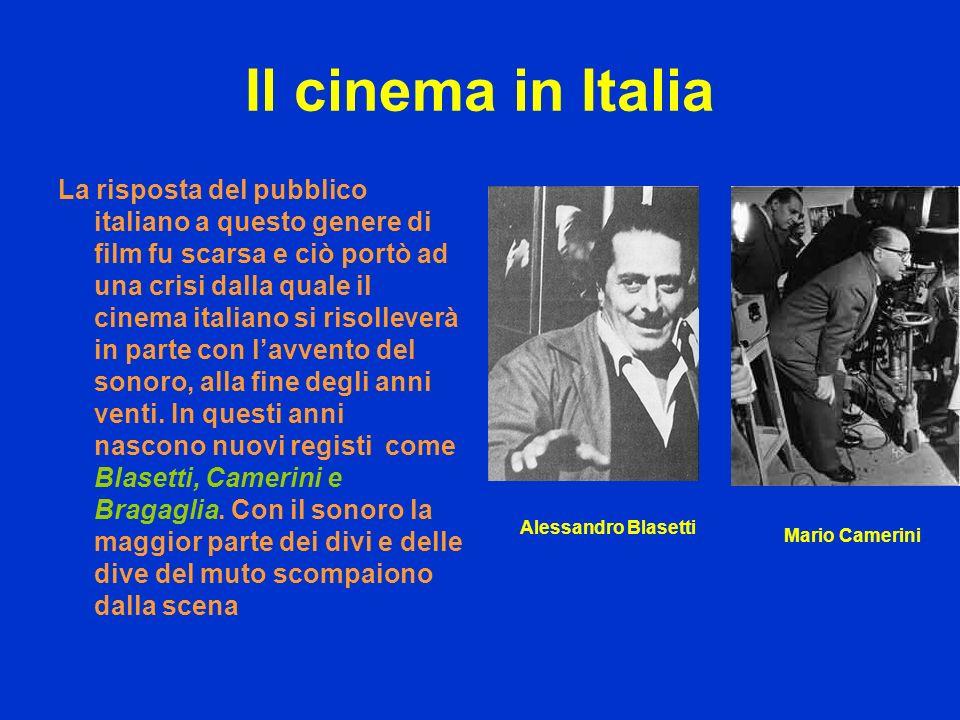 Il cinema in Italia La risposta del pubblico italiano a questo genere di film fu scarsa e ciò portò ad una crisi dalla quale il cinema italiano si ris