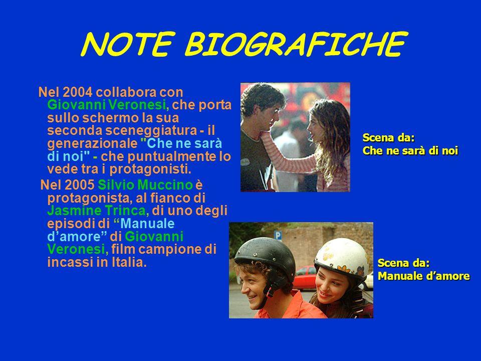 NOTE BIOGRAFICHE Nel 2004 collabora con Giovanni Veronesi, che porta sullo schermo la sua seconda sceneggiatura - il generazionale