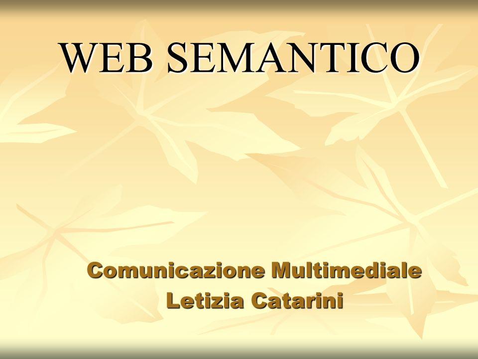 WEB SEMANTICO Comunicazione Multimediale Letizia Catarini
