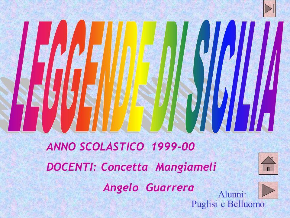 Puglisi e Belluomo ANNO SCOLASTICO 1999-00 DOCENTI: Concetta Mangiameli Angelo Guarrera Alunni: