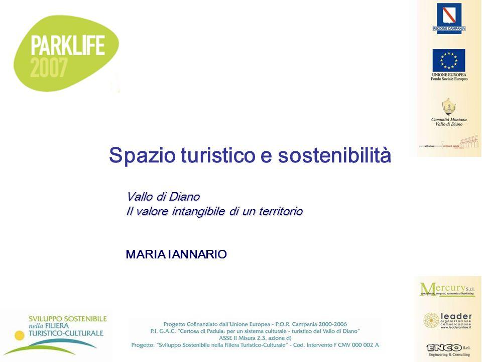Vallo di Diano Il valore intangibile di un territorio MARIA IANNARIO Spazio turistico e sostenibilità