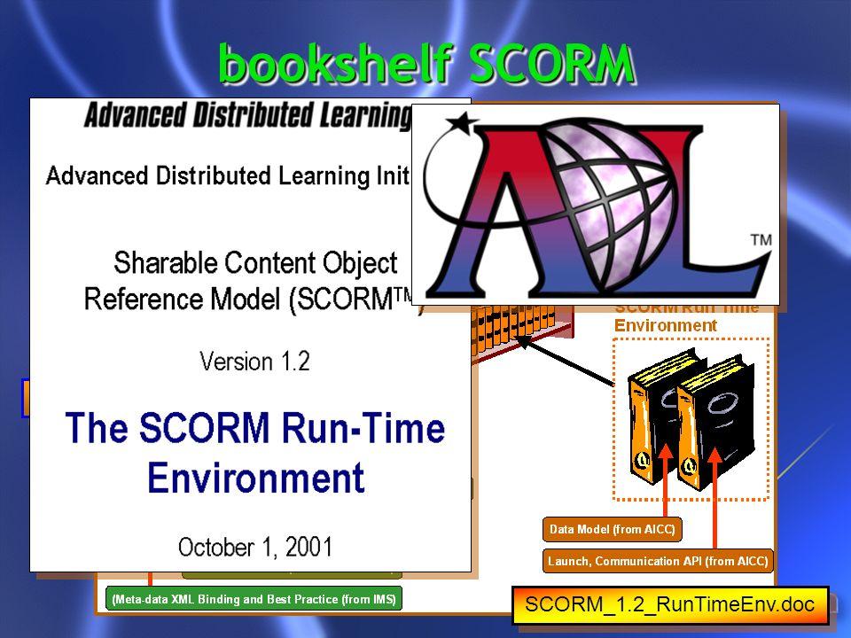 bookshelf SCORM SCORM_1.2_Overview.doc SCORM_1.2_CAM.doc SCORM_1.2_RunTimeEnv.doc
