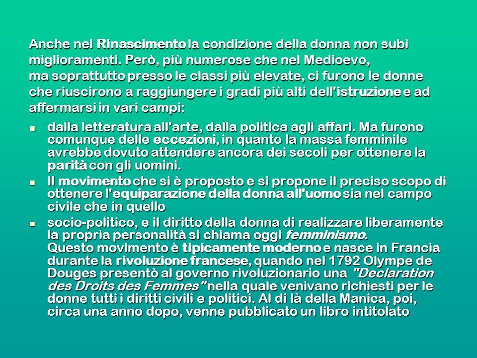 Diritto al lavoro Le donne lavoratrici Quante donne dirigenti in Italia.