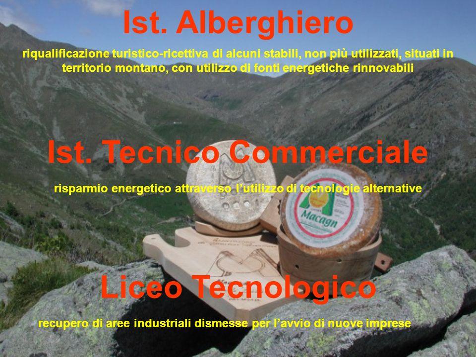 Ist. Alberghiero riqualificazione turistico-ricettiva di alcuni stabili, non più utilizzati, situati in territorio montano, con utilizzo di fonti ener