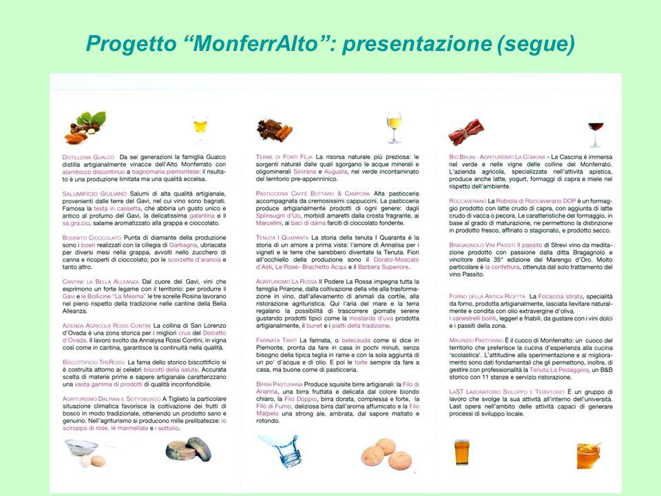 Progetto MonferrAlto: presentazione (segue)