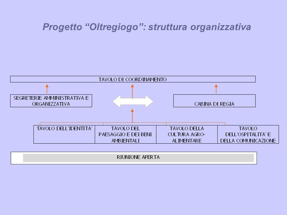 Progetto Oltregiogo: struttura organizzativa