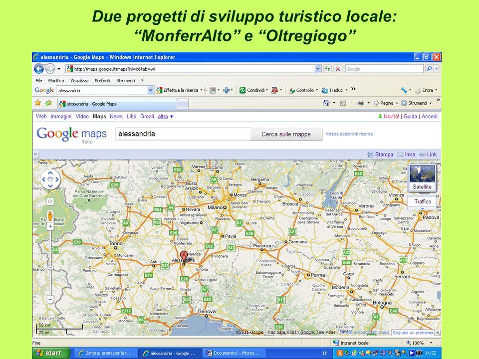 Due progetti di sviluppo turistico locale: MonferrAlto e Oltregiogo