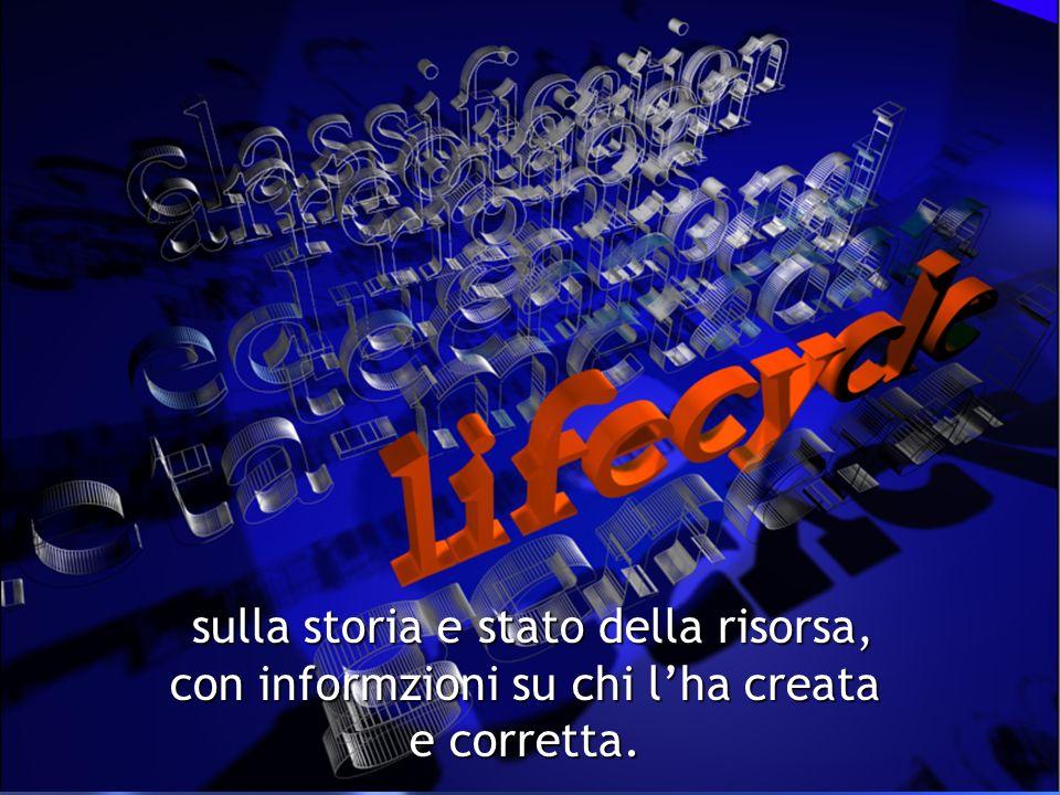 2: Lifecycle sulla storia e stato della risorsa, con informzioni su chi lha creata e corretta.
