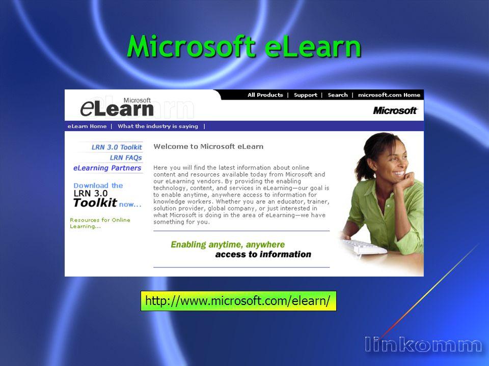 Microsoft eLearn http://www.microsoft.com/elearn/