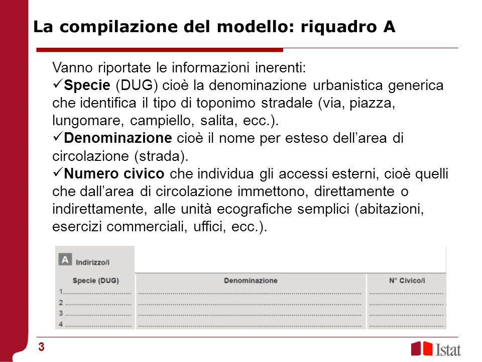 4 Nel modello CP.ED è previsto lo spazio per la registrazione di 4 indirizzi distinti.