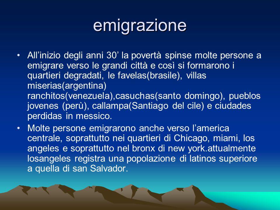 emigrazione Allinizio degli anni 30 la povertà spinse molte persone a emigrare verso le grandi città e così si formarono i quartieri degradati, le fav