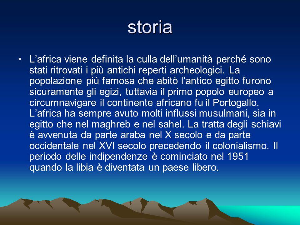 storia Lafrica viene definita la culla dellumanità perché sono stati ritrovati i più antichi reperti archeologici. La popolazione più famosa che abitò