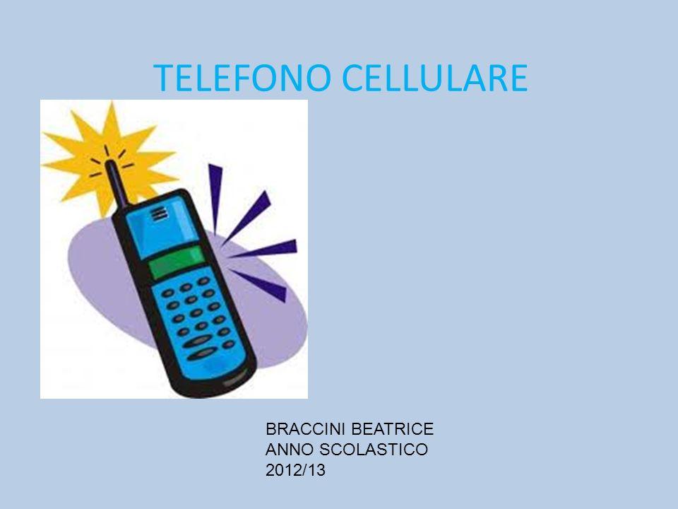 TELEFONO CELLULARE BRACCINI BEATRICE ANNO SCOLASTICO 2012/13