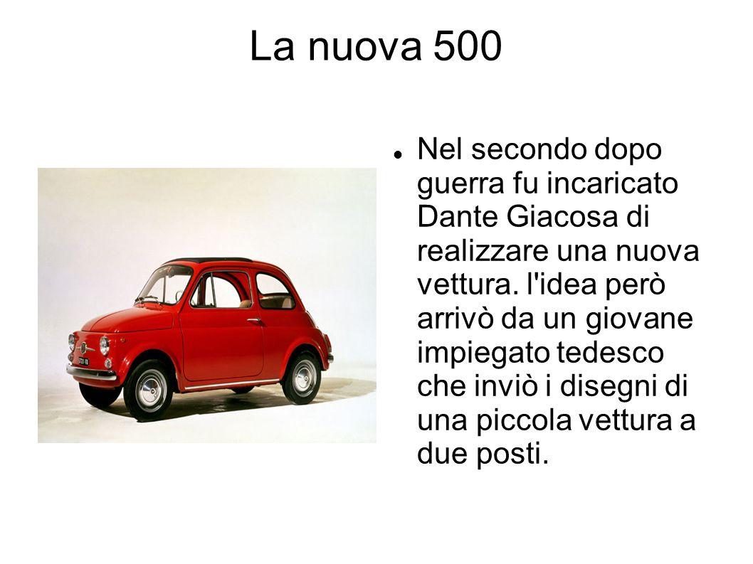 La prima serie La vettura venne presentata in anteprima al presidente del consiglio,adone zoli, nel 1957.