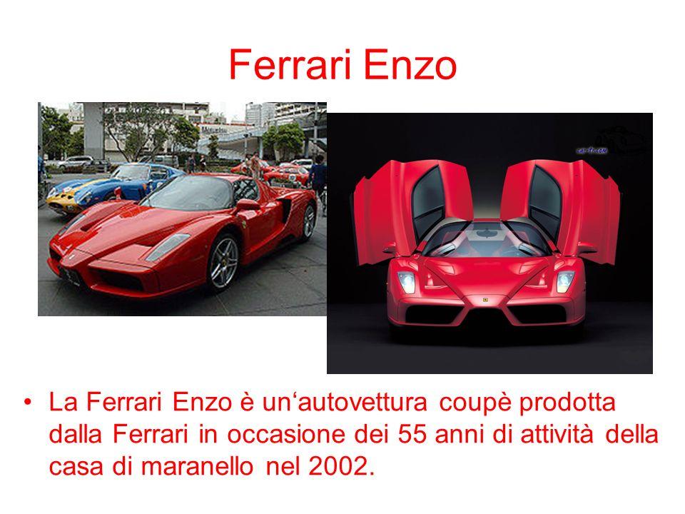 Ferrari Enzo La Ferrari Enzo è unautovettura coupè prodotta dalla Ferrari in occasione dei 55 anni di attività della casa di maranello nel 2002.