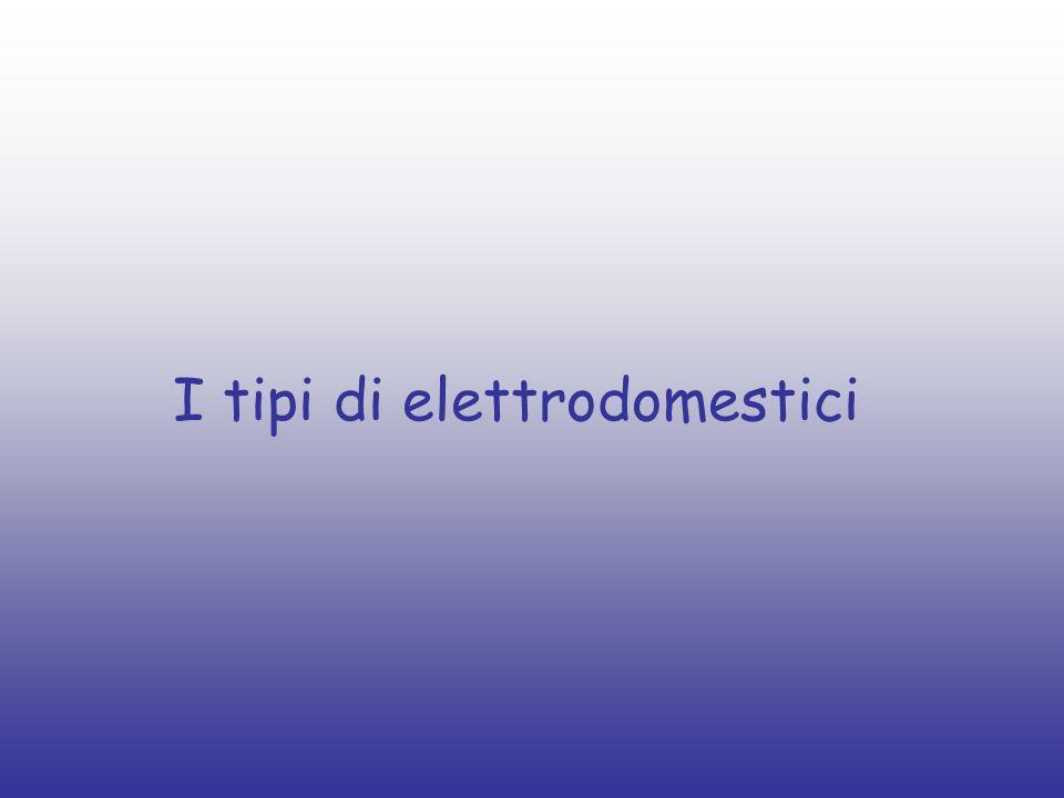 I tipi di elettrodomestici