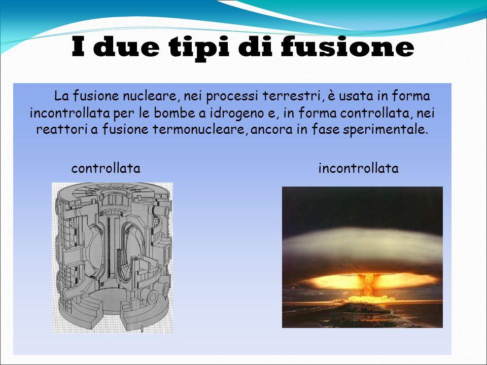Cosè la Fusione? La fusione è il processo nucleare che alimenta il Sole e le altre stelle infatti è un fenomeno di gran lunga più frequente in natura,