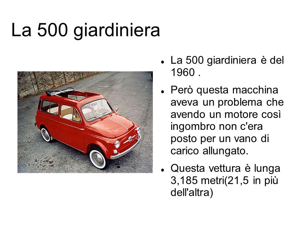 La 500 F Nel 1965 viene presentata la nuova 500 F.