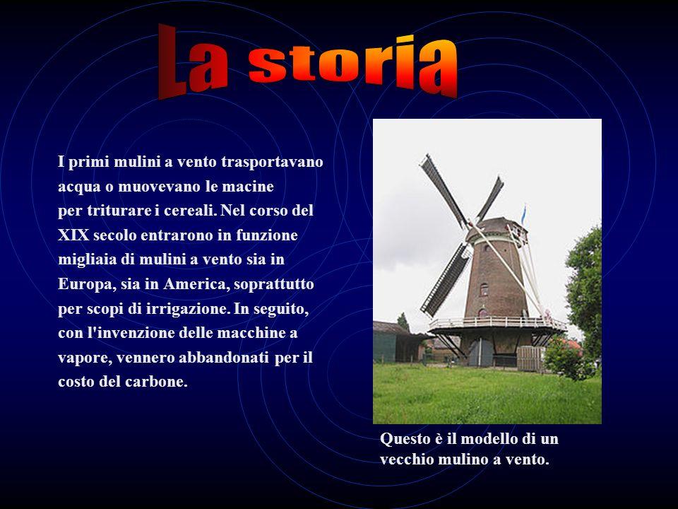 L'energia eolica è la conversione dell'energia cinetica del vento in altre forme di energia come lenergia elettrica e meccanica. Oggi viene per lo più