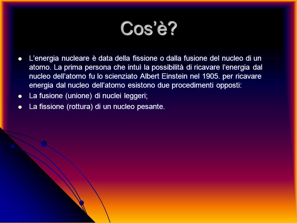 La fusione nucleare La fusione nucleare è un procedimento per ottenere energia dallatomo.