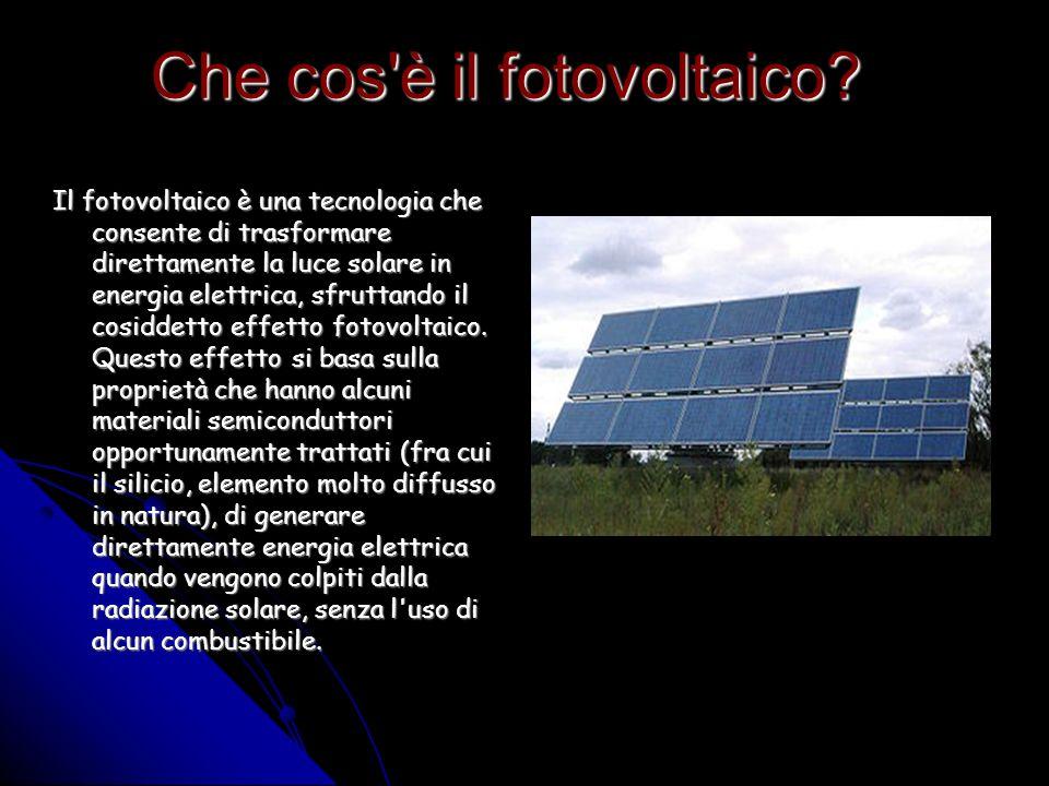 Che cos è il fotovoltaico.