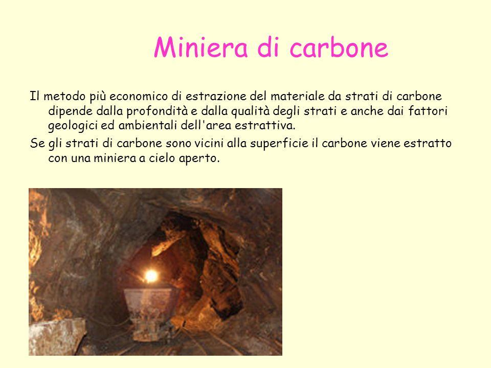Miniera di carbone Il metodo più economico di estrazione del materiale da strati di carbone dipende dalla profondità e dalla qualità degli strati e an