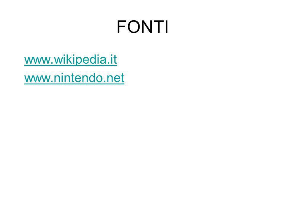 FONTI www.wikipedia.it www.nintendo.net