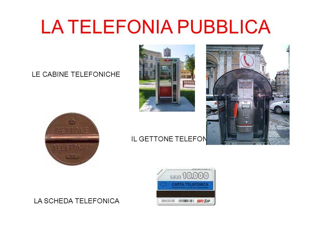 LA TELEFONIA PUBBLICA LE CABINE TELEFONICHE LA SCHEDA TELEFONICA IL GETTONE TELEFONICO