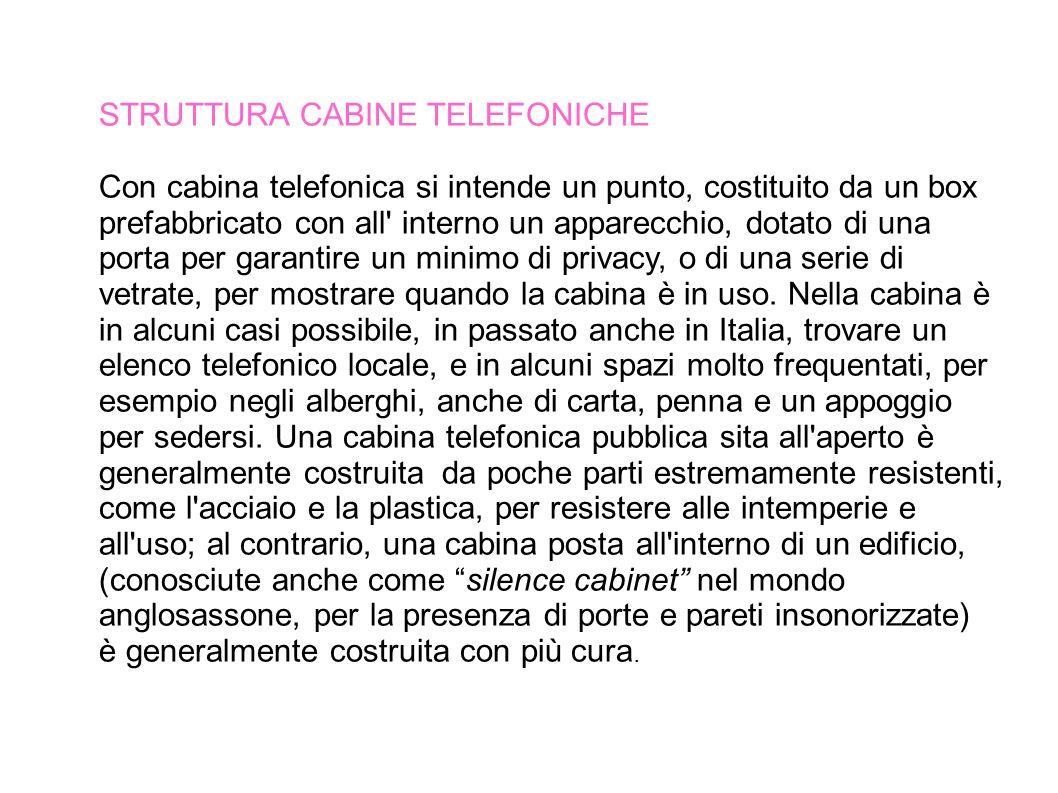 FUNZIONAMENTO In Italia telefoni pubblici funzionano a scatti, a schede e a monete.