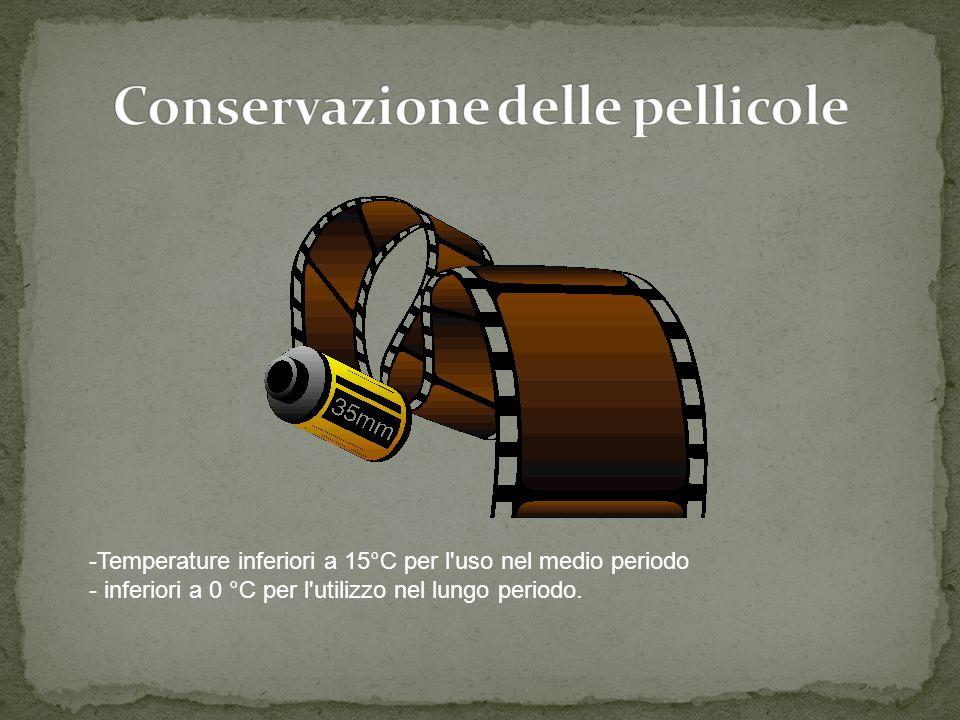 -Temperature inferiori a 15°C per l uso nel medio periodo - inferiori a 0 °C per l utilizzo nel lungo periodo.