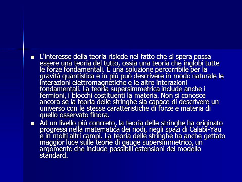 LA STORIA La teoria delle stringhe prende le mosse da un articolo del fisico teorico Gabriele Veneziano per spiegare le peculiarità del comportamento degli adroni.