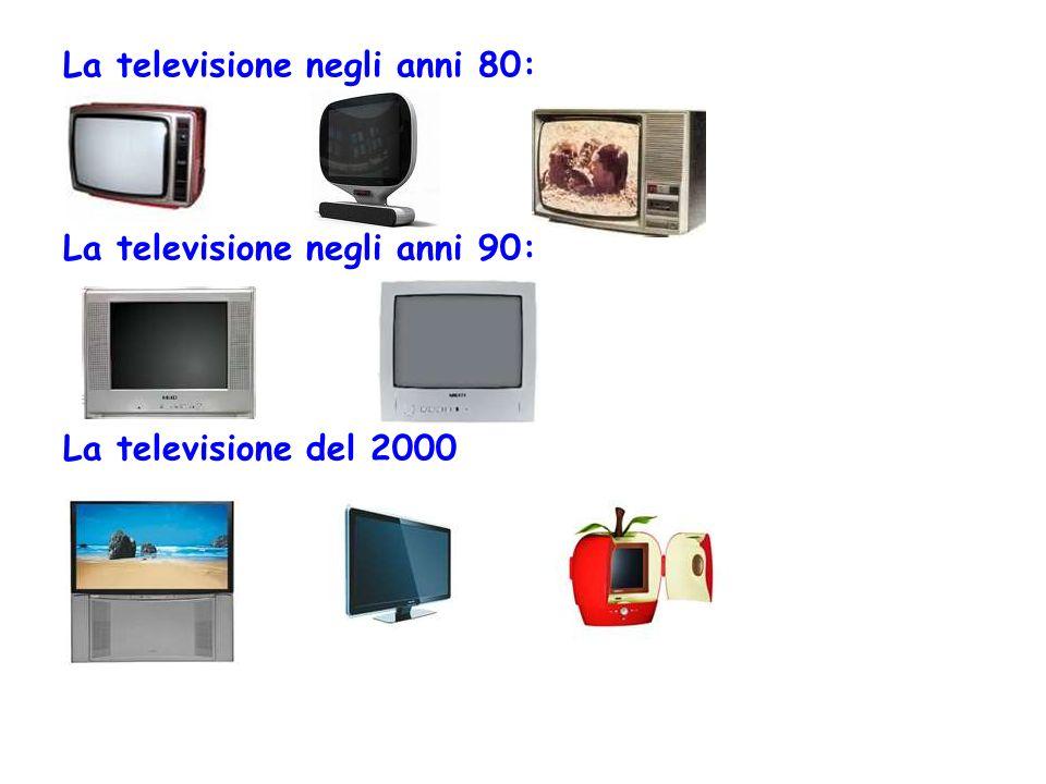 La televisione negli anni 80: La televisione negli anni 90: La televisione del 2000