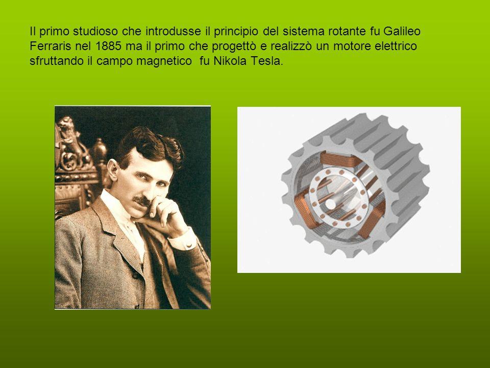 Il primo studioso che introdusse il principio del sistema rotante fu Galileo Ferraris nel 1885 ma il primo che progettò e realizzò un motore elettrico