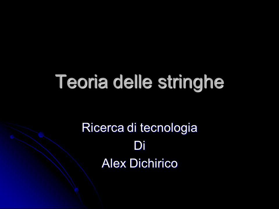 Teoria delle stringhe Ricerca di tecnologia Di Alex Dichirico