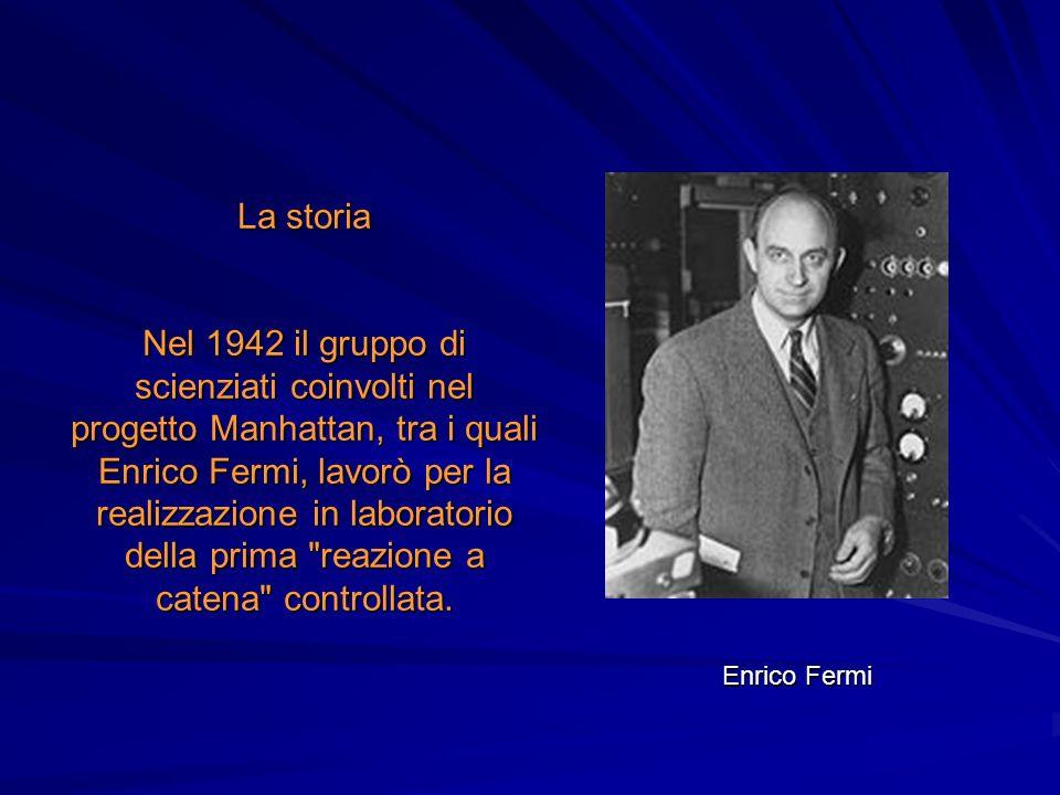 La storia Nel 1942 il gruppo di scienziati coinvolti nel progetto Manhattan, tra i quali Enrico Fermi, lavorò per la realizzazione in laboratorio dell