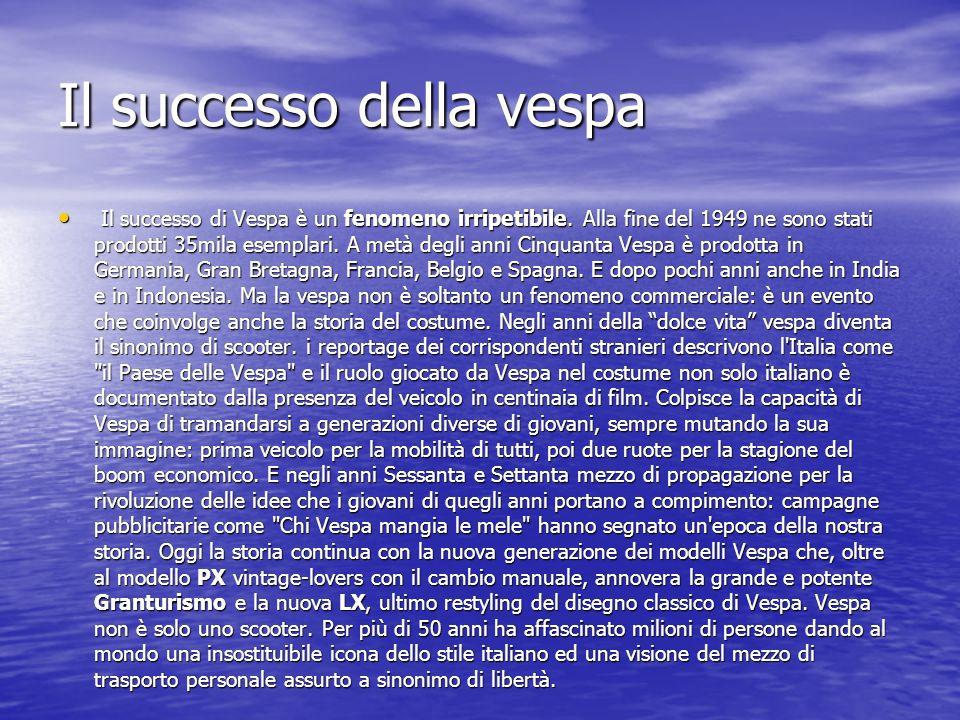 Il successo della vespa Il successo di Vespa è un fenomeno irripetibile.
