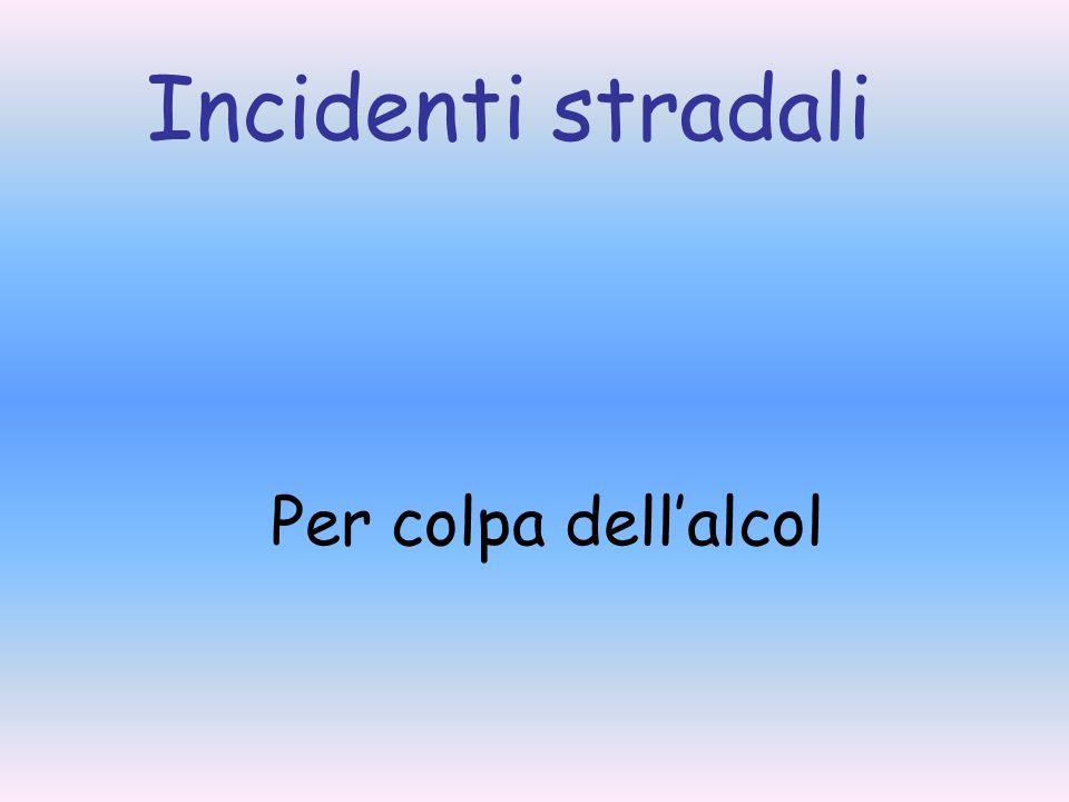 Incidenti stradali Per colpa dellalcol