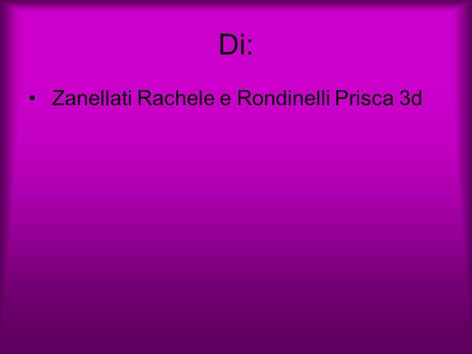 Di: Zanellati Rachele e Rondinelli Prisca 3d