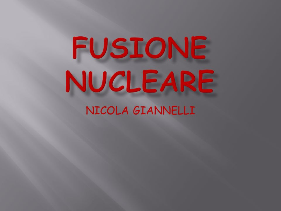 NICOLA GIANNELLI