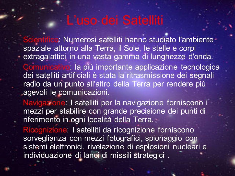 Luso dei Satelliti Scientifico: Numerosi satelliti hanno studiato l'ambiente spaziale attorno alla Terra, il Sole, le stelle e corpi extragalattici in