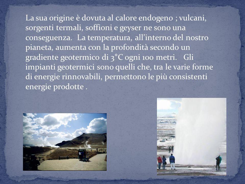 14 ENERGIA GEOTERMICA Il calore è una forma di energia e, lenergia geotermica è il calore contenuto nellinterno della Terra. Lespressione energia geot