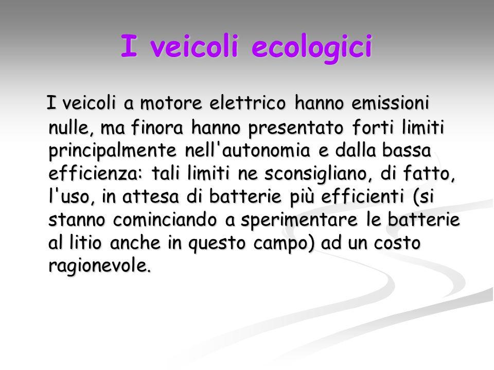 I trasporti con mezzi a motore a combustione interna consumano una grande quantità di energia che, bruciata, genera inquinamento. Benché si vada verso